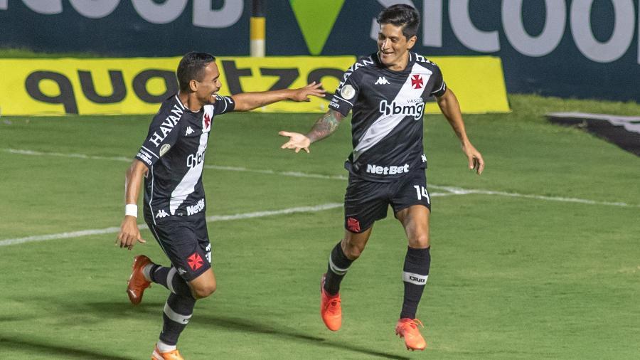 Jogadores do Vasco comemoram gol diante do Atlético-MG -  MAGA JR/O FOTOGRÁFICO/ESTADÃO CONTEÚDO