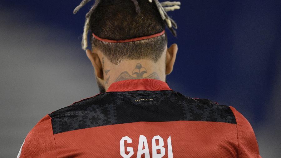 Foco em Gabigol, ou Gabi, na partida do Flamengo contra o Vélez Sarsfield pela Libertadores - Juan Mabromata - Pool/Getty Images