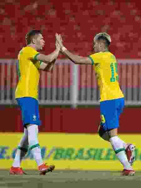 Reinier comemora gol pela seleção olímpica em amistoso contra Emirados Árabes Unidos - Lucas Figueiredo/CBF - Lucas Figueiredo/CBF