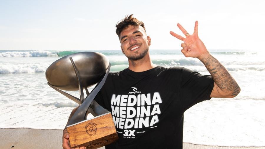 Gabriel Medina, tricampeão mundial de surfe - WSL
