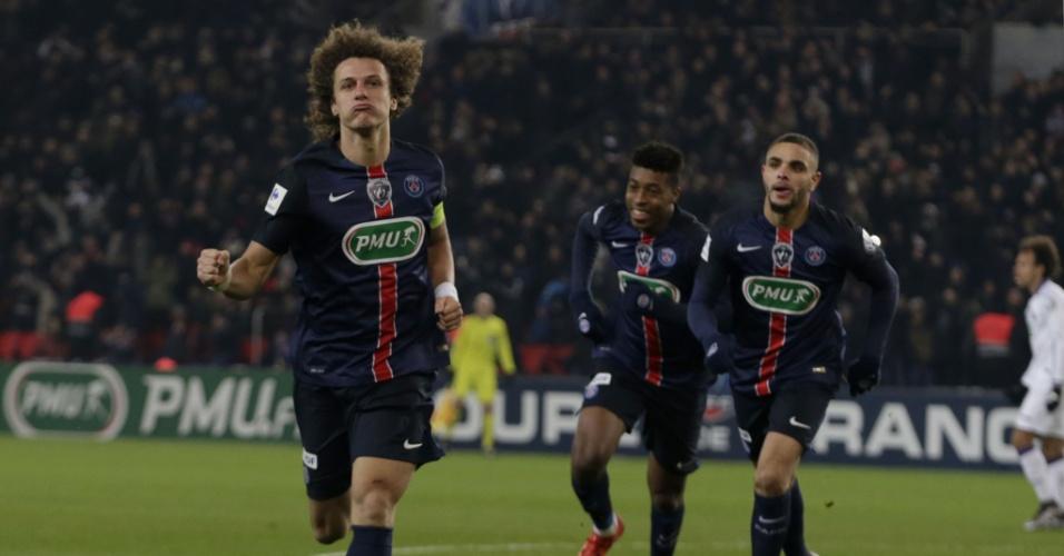 David Luiz marcou o gol de empate do PSG contra o Toulouse pela Copa da França