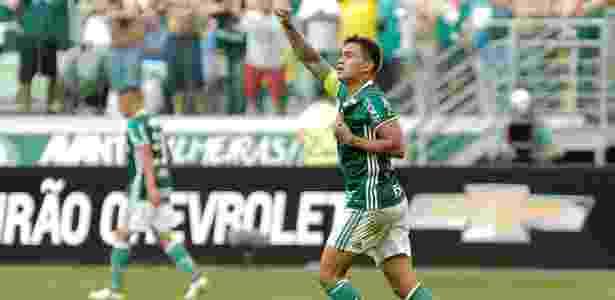 Dudu celebra gol marcado pelo Palmeiras no duelo com o Botafogo no Allianz Parque - Daniel Vorley/AGIF - Daniel Vorley/AGIF