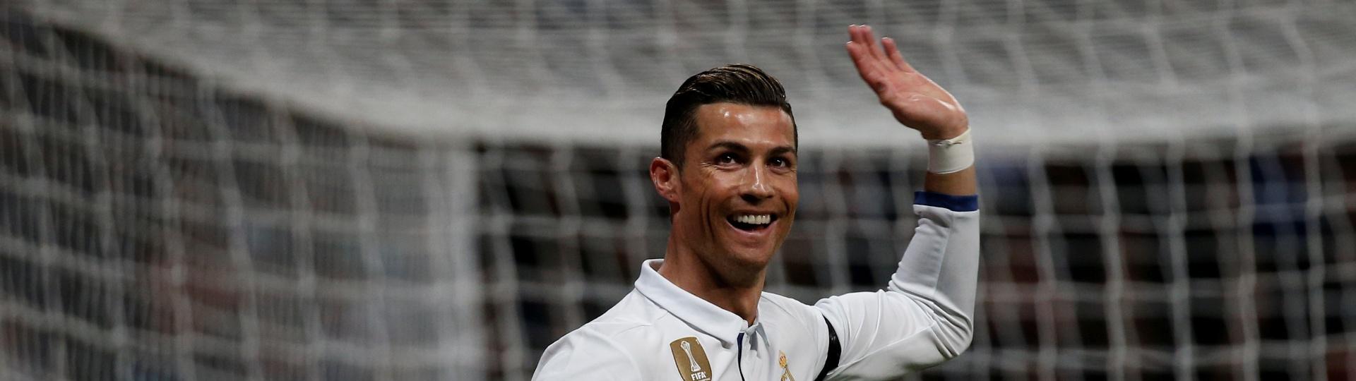 Cristiano Ronaldo comemora gol de empate do Real marcado contra o Betis