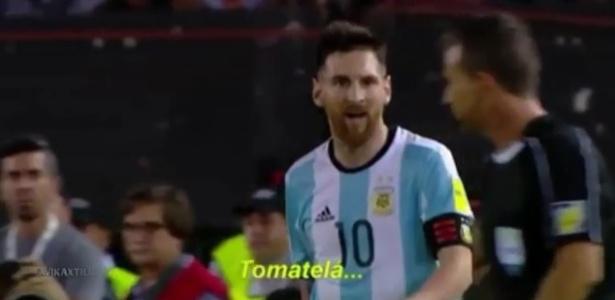 Messi xingou bandeirinha contra o Chile