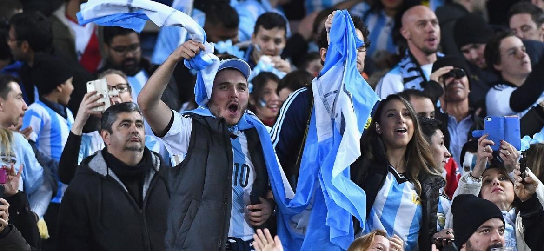 """""""Brasil, decime que se siente..."""" embalou argentinos em 2014. Agora, é coisa do passado - Quinn Rooney/Getty Images"""