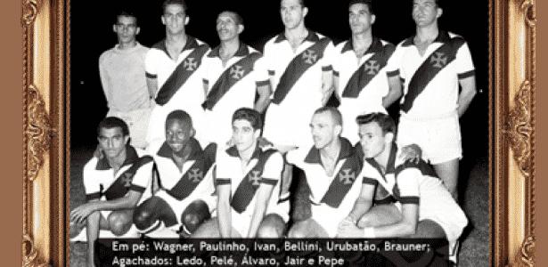 O combinado Santos/Vasco de 1957 contava com Pelé - Reprodução/vasco.com.br - Reprodução/vasco.com.br