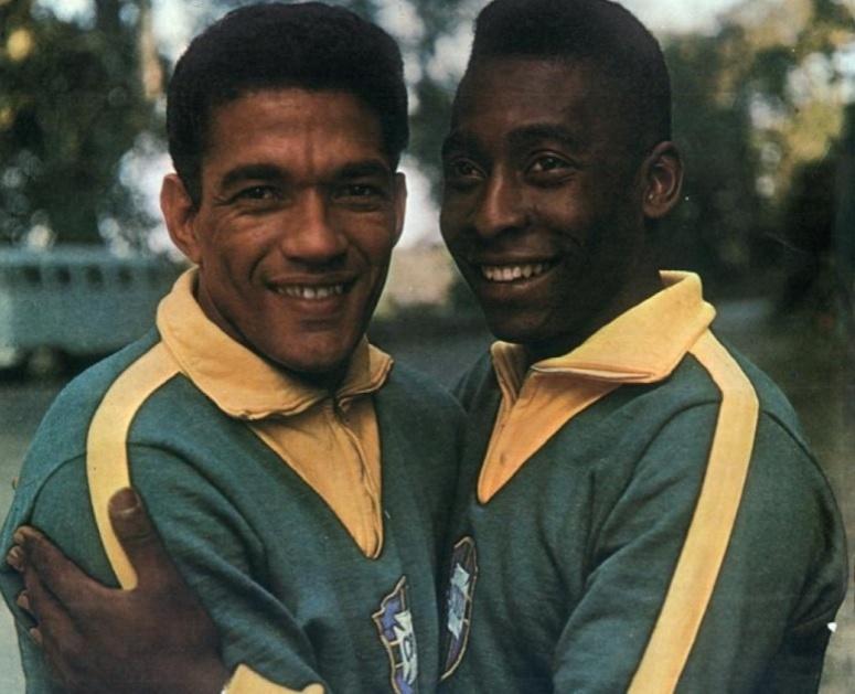 Garrincha e Pelé, na seleção brasileira