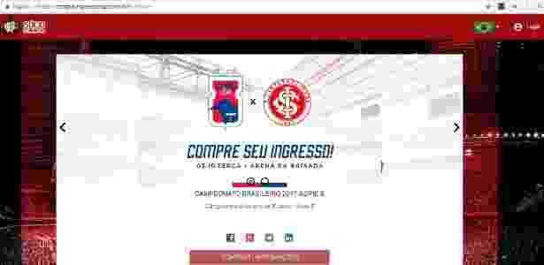Paraná Ingressos - Reprodução - Reprodução