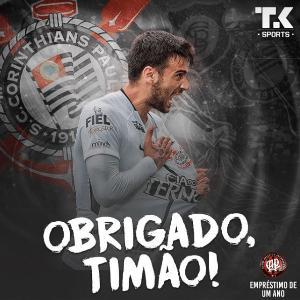 Camacho se despede do Corinthians e agradece carinho da torcida - Reprodução/Instagram