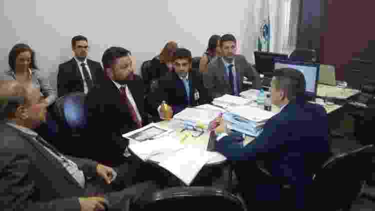 A sala de audiência onde acontecem os testemunhos sobre o caso Daniel - Dimitri do Valle/UOL - Dimitri do Valle/UOL