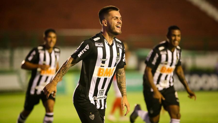 Nathan comemora gol do Atlético-MG sobre Tupynambás - Bruno Cantini/Atlético-MG