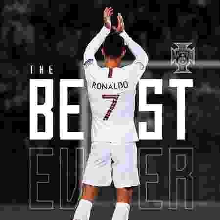 Seleção portuguesa postou mensagem de incentivo após Cristiano Ronaldo ser derrotado por Messi no The Best - Reprodução/Twitter