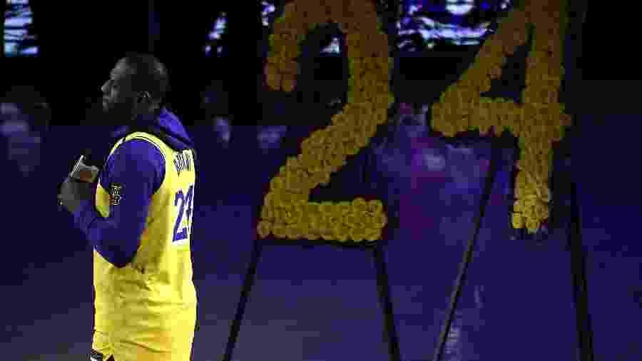 LeBron discursa em homenagem a Kobe Bryant no Staples Center - Kevork Djansezian/Getty Images/AF
