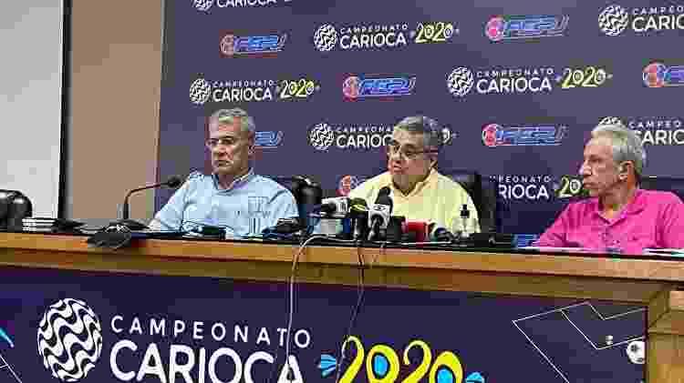 Rubens Lopes em reunião que paralisou o Campeonato Carioca, em março - Caio Blois / UOL - Caio Blois / UOL