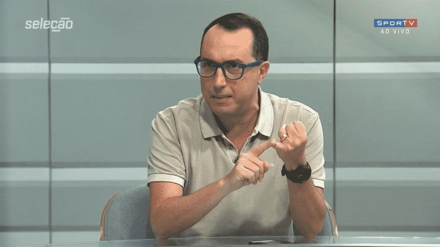 Carlos Cereto, comentarista do Grupo Globo - Reprodução/SporTV