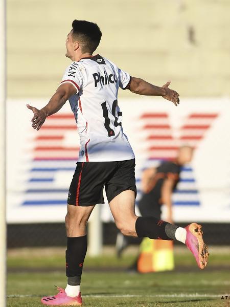 Cittadini comemora o gol pelo Athletico contra o Paraná - Reprodução