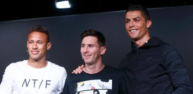 Neymar, Messi e Cristiano Ronaldo continuam sendo os futebolistas mais bem pagos