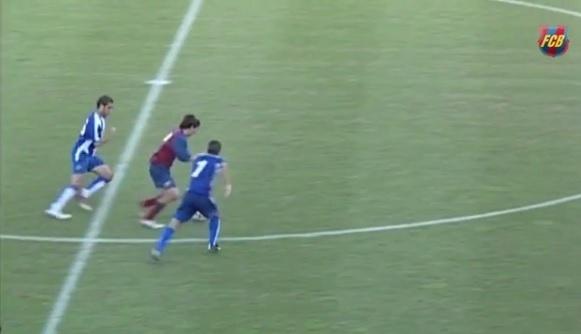 Lionel Messi já brilhava aos 17 anos no Barcelona