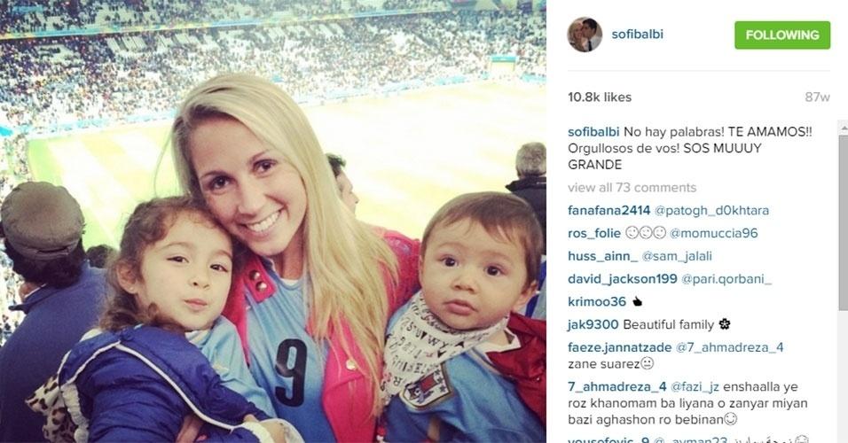 Sofia Balbi levou os filhos para acompanhar o pai na Copa de 2014