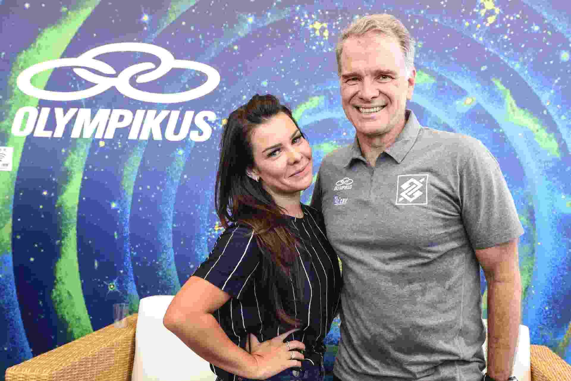 Fernanda Souza e Bernardinho - Olympikus/Divulgação
