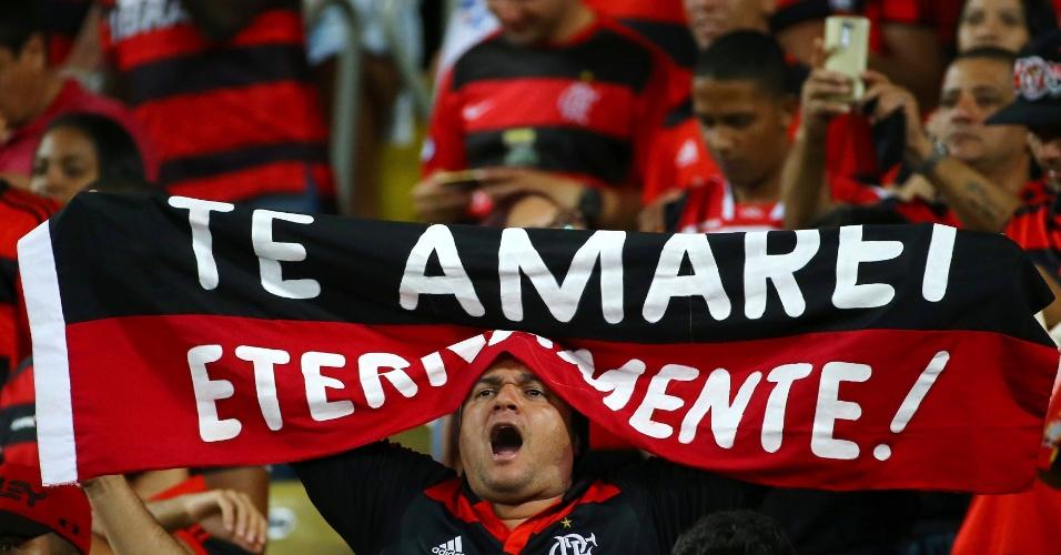 Torcida do Flamengo acompanha o duelo contra a Universidad Católica