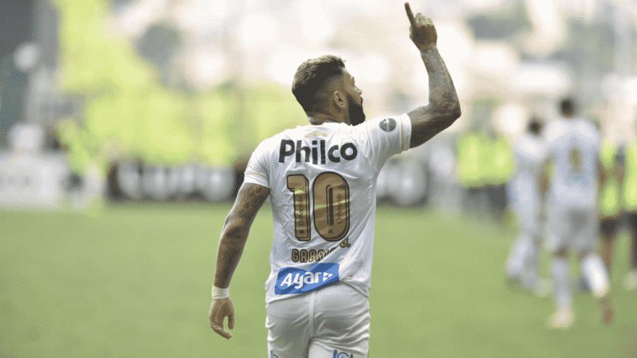 Gabriel Barbosa, o Gabigol, quando defendia o Santos - Divulgação/Santos FC