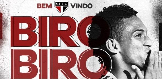 O São Paulo confirmou a contratação de Biro Biro nesta quarta-feira - Divulgação/São Paulo FC