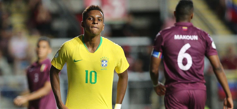 Rodrygo jogando pela seleção sub-20 - Claudio Reyes/AFP