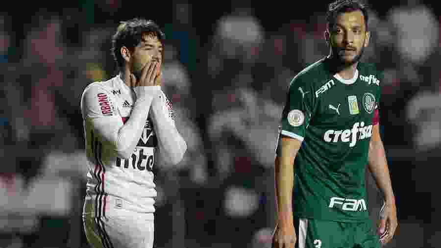 Alexandre Pato lamenta chance perdida na partida São Paulo 1 x 1 Palmeiras pelo Campeonato Brasileiro 2019 - Marcello Zambrana/AGIF