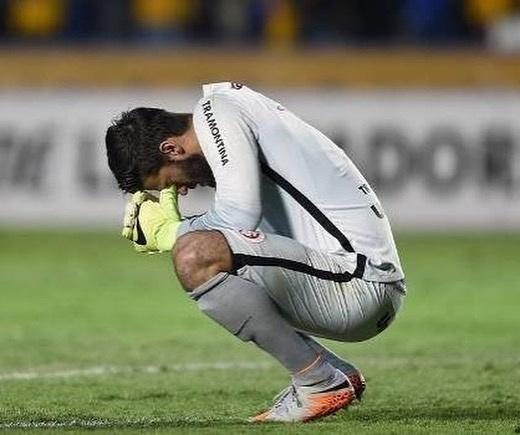 Alisson Becker após derrota do Internacional