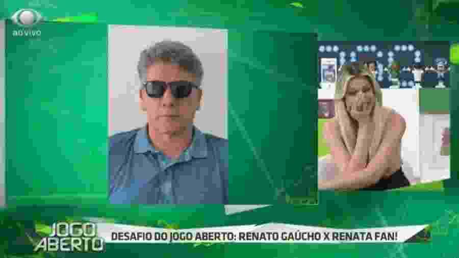 Renata Fan e Renato Gaúcho no Jogo Aberto - Reprodução/Bandeirantes