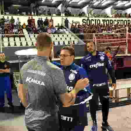 Vinícius Bergantin, técnico do Ituano, e Vanderlei Luxemburgo, técnico do Palmeiras - Divulgação/Ituano - Divulgação/Ituano
