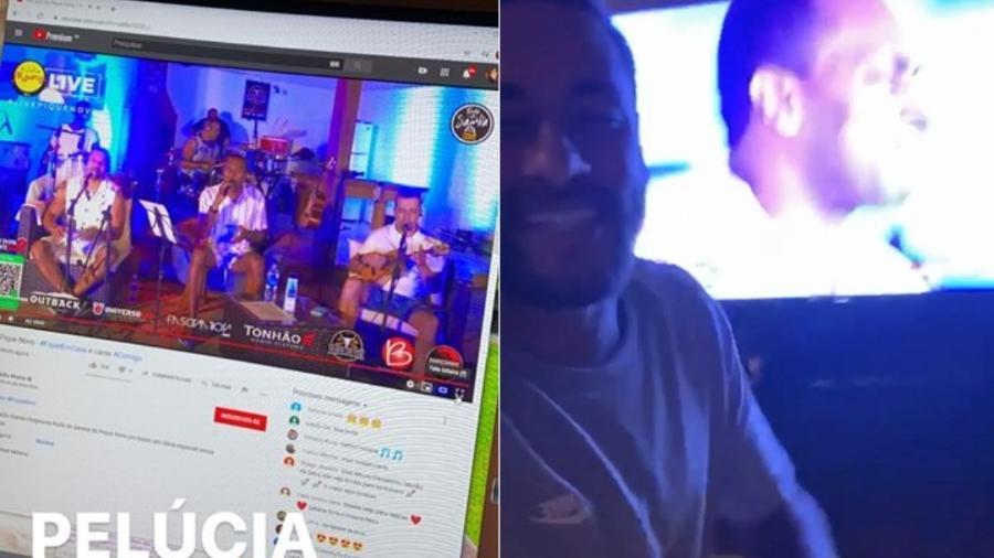 Neymar Jr. curte live do Pique Novo em sua mansão em Mangaratiba (RJ) - Reprodução/Instagram