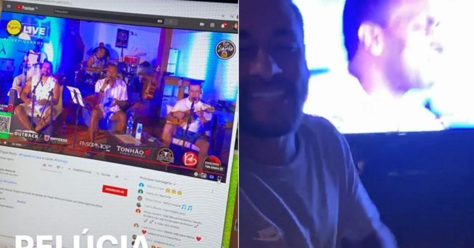 Neymar Jr. curte live do Pique Novo em sua mansão em Mangaratiba (RJ)
