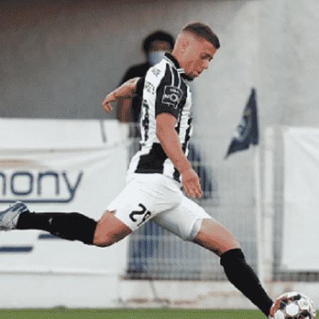 Lucas Fernandes, durante partida entre Portimonense e Gil Vicente, pelo Campeonato Português - Divulgação/Portimonense
