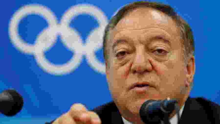 Tamas Ajan, presidente da Federação Internacional de Levantamento de Peso (IWF), em entrevista coletiva em 2008 - Yves Herman/Reuters