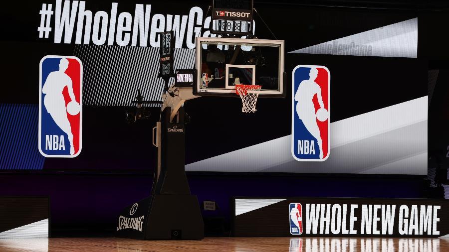 Quadra da The Arena, montada no complexo esportivo ESPN Wide World of Sports para receber a NBA em 2020 - David Sherman/NBAE via Getty Images