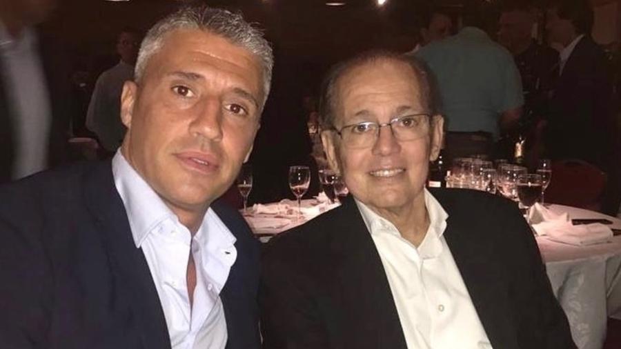 Hernán Crespo e Alejandro Sabella; recorrer aos experientes é tática frequente na vida do argentino que agora comanda o SP - Instagram Hernán Crespo