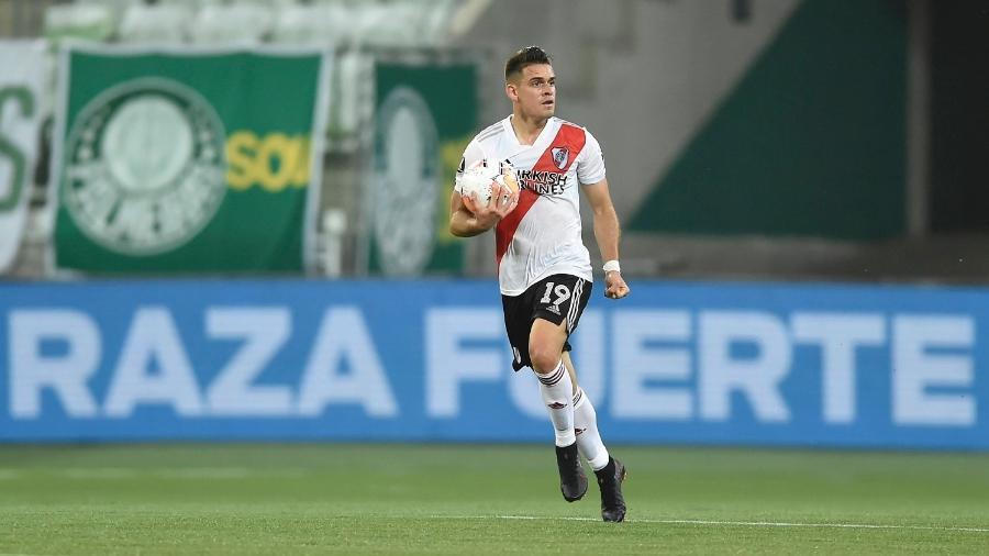 Borré durante o jogo entre Palmeiras e River Plate, pela semifinal da Libertadores - Staff Images/Conmebol
