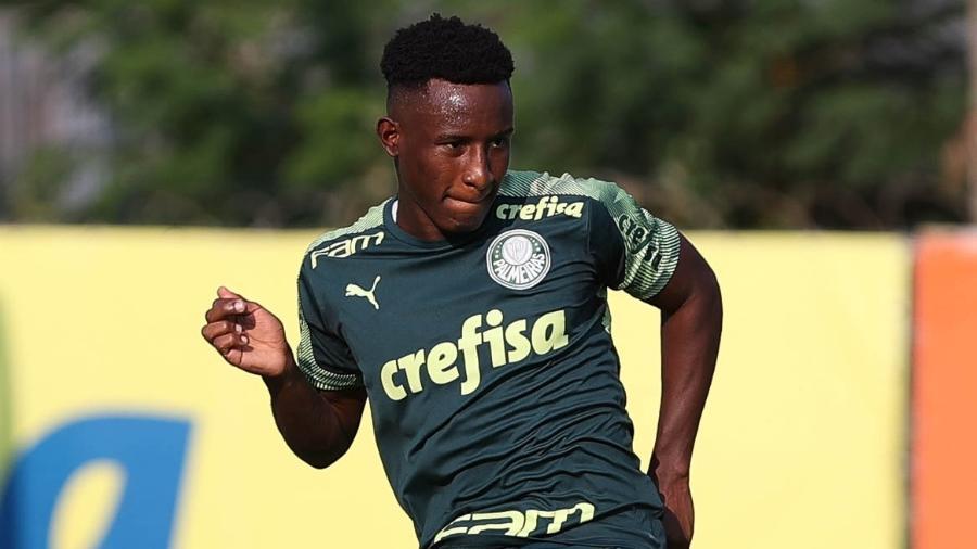 Angulo participa de treino na Academia de Futebol - Cesar Greco/Palmeiras