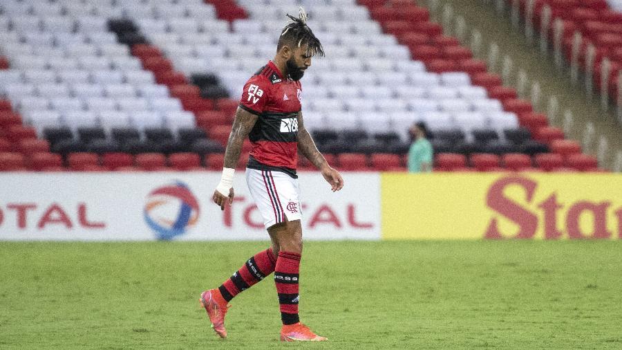 Gabigol lamenta derrota do Flamengo para o Vasco no Maracanã - DELMIRO JUNIOR/ESTADÃO CONTEÚDO