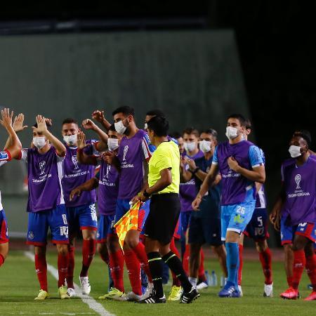 Alesson comemora gol do Bahia contra o Guabirá; equipe joga hoje pela Sul-Americana - Felipe Oliveira/Bahia