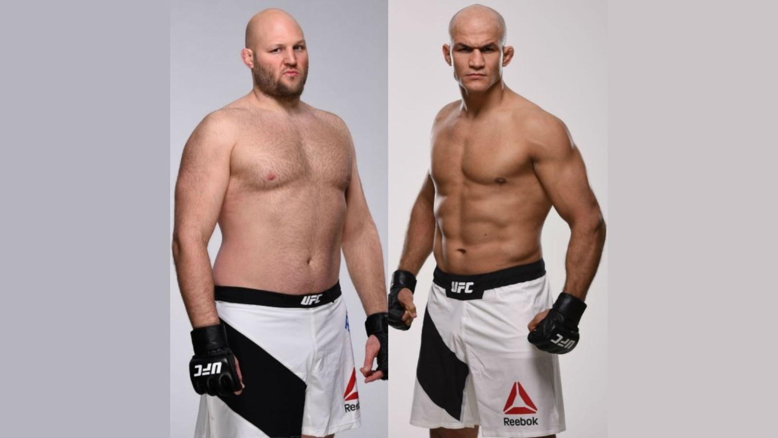 Ben Rothwell (esq) e Júnior Cigano (dir) farão luta principal do UFC Fight Night 86, em Zagreb (Croácia)