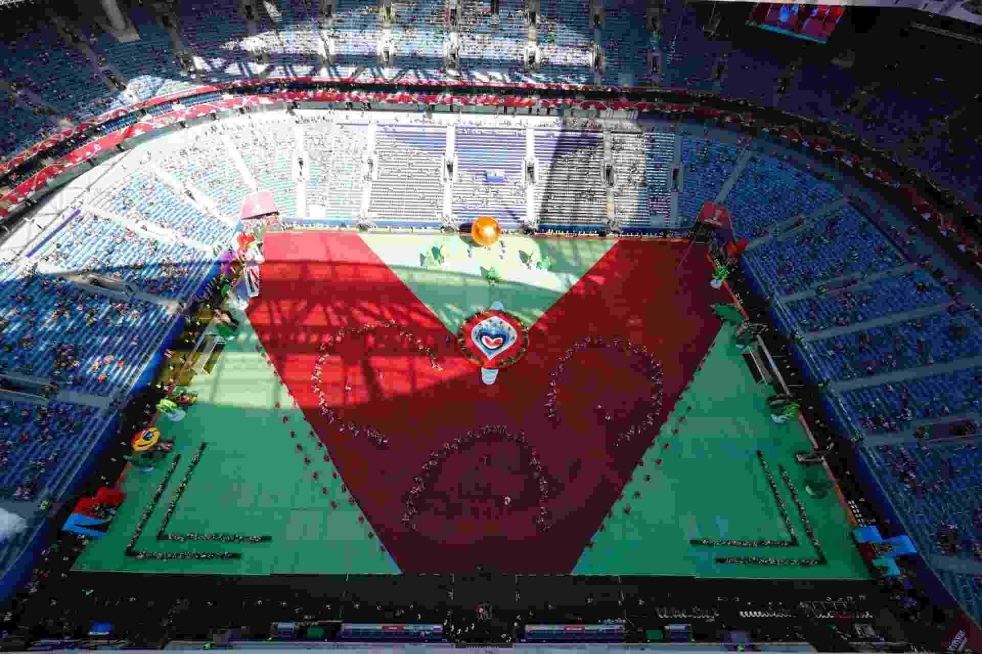 Cerimônia de abertura da Copa das Confederações contou com baixo público - PAWEL KOPCZYNSKI/REUTERS