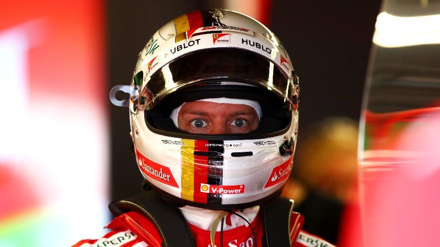 Sebastian Vettel, da Ferrari, durante o GP do Canadá - Dan Istitene/Getty Images
