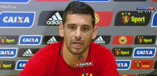 Diego Souza fala em coletiva de imprensa após voltar ao Sport