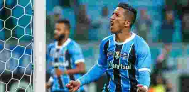 Lucas Barrios Grêmio - Lucas Uebel/Grêmio FBPA - Lucas Uebel/Grêmio FBPA