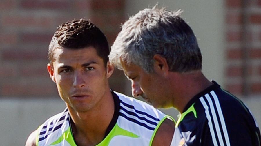 José Mourinho já trabalho com Cristiano Ronaldo no Real Madrid - Kevork Djansezian/Getty Images