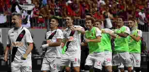 Jogadores do Vasco comemoram gol contra o Flamengo - Carlos Gregório Jr/Vasco.com.br - Carlos Gregório Jr/Vasco.com.br