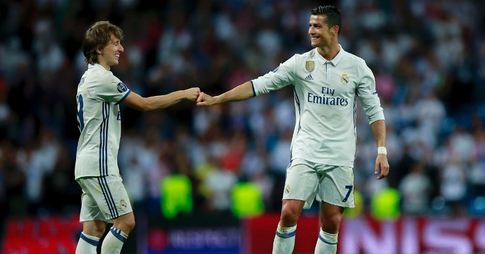 Luka Modric e Cristiano Ronaldo foram fundamentais para o tricampeonato da Liga dos Campeões